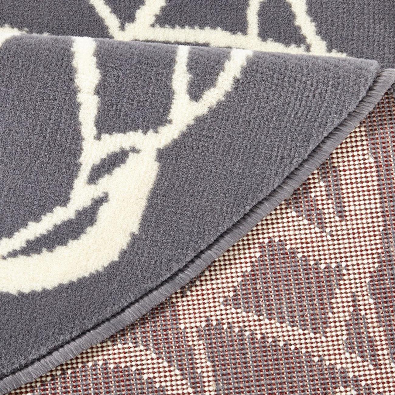 Teppich hellgrau rund  Designer Velours Teppich Mandala Grau Rund 140 cm Teppiche Design ...
