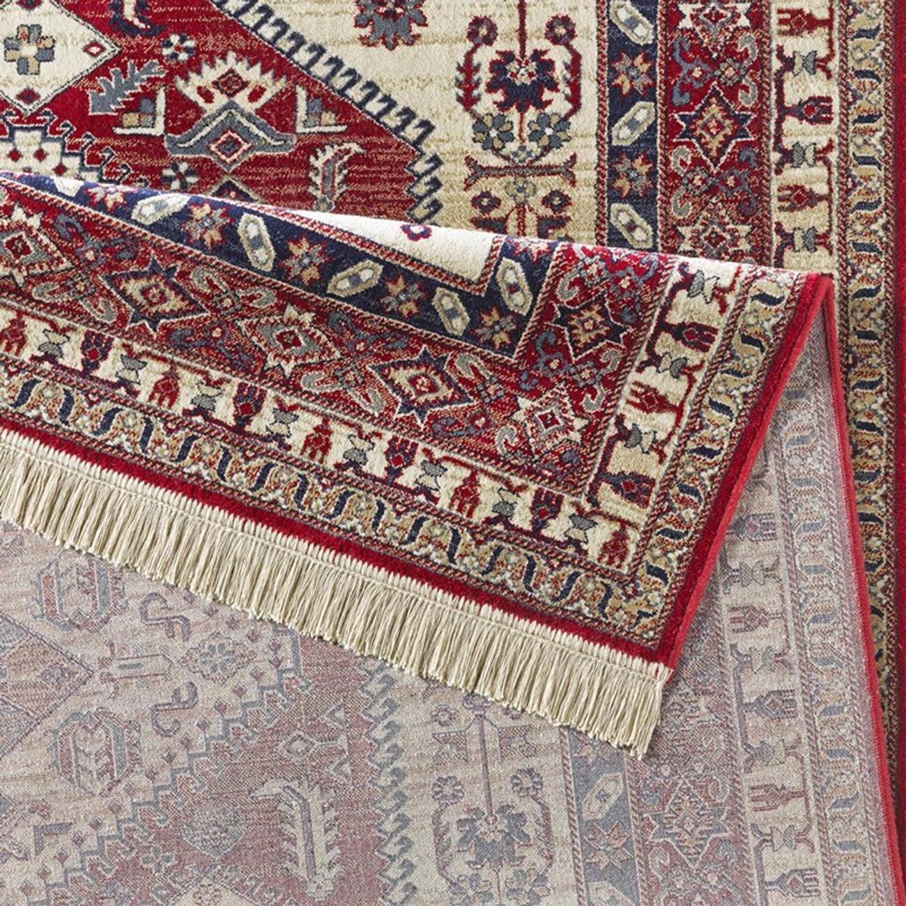 design teppich viskose mit fransen cult rot teppiche orient design teppiche. Black Bedroom Furniture Sets. Home Design Ideas