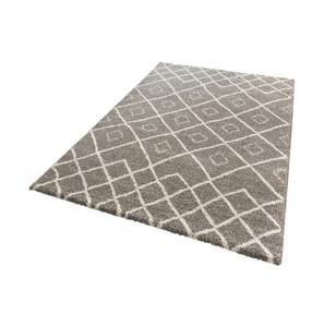 Design Hochflor Teppich Maison Taupe Creme