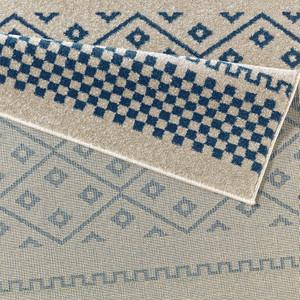 Design Velours Teppich Mood Blau Taupe Creme – Bild 3
