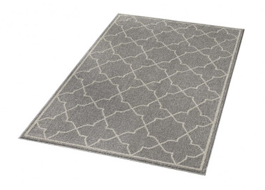 Design Velours Teppich Viva Grau