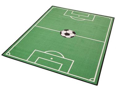 Kinderteppich Fußballteppich Spielteppich Fußballfeld grün – Bild 2