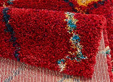 Design Teppich Hochflor Langflor Geometric rot – Bild 3