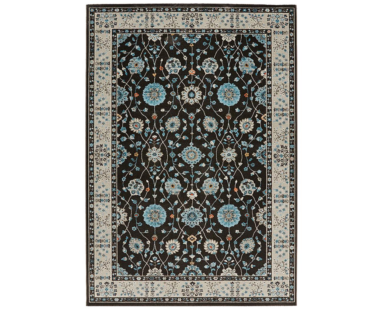 design velours teppich couture anthrazit blau grau. Black Bedroom Furniture Sets. Home Design Ideas