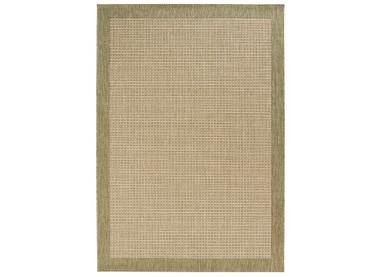 Design Teppich Flachgewebe Simple mit Bordüre Grün – Bild 4