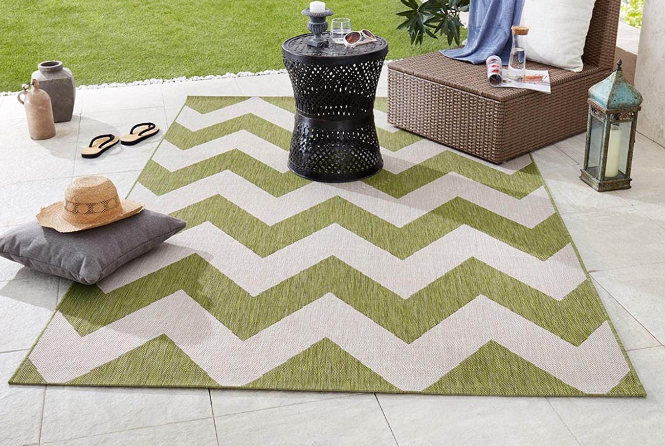 design in outdoor flachgewebe teppich unique gr n beige ebay. Black Bedroom Furniture Sets. Home Design Ideas
