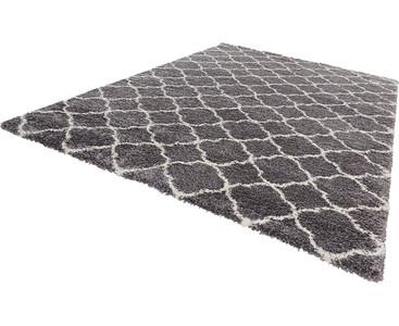 Design Velours Teppich Hochflor Luna grau creme – Bild 2