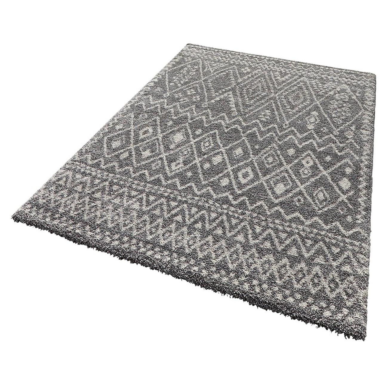 design teppich hochflor langflor inka gemustert grau teppiche hochflor teppiche. Black Bedroom Furniture Sets. Home Design Ideas