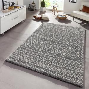 Design Teppich Hochflor Langflor Inka Gemustert Grau  – Bild 1