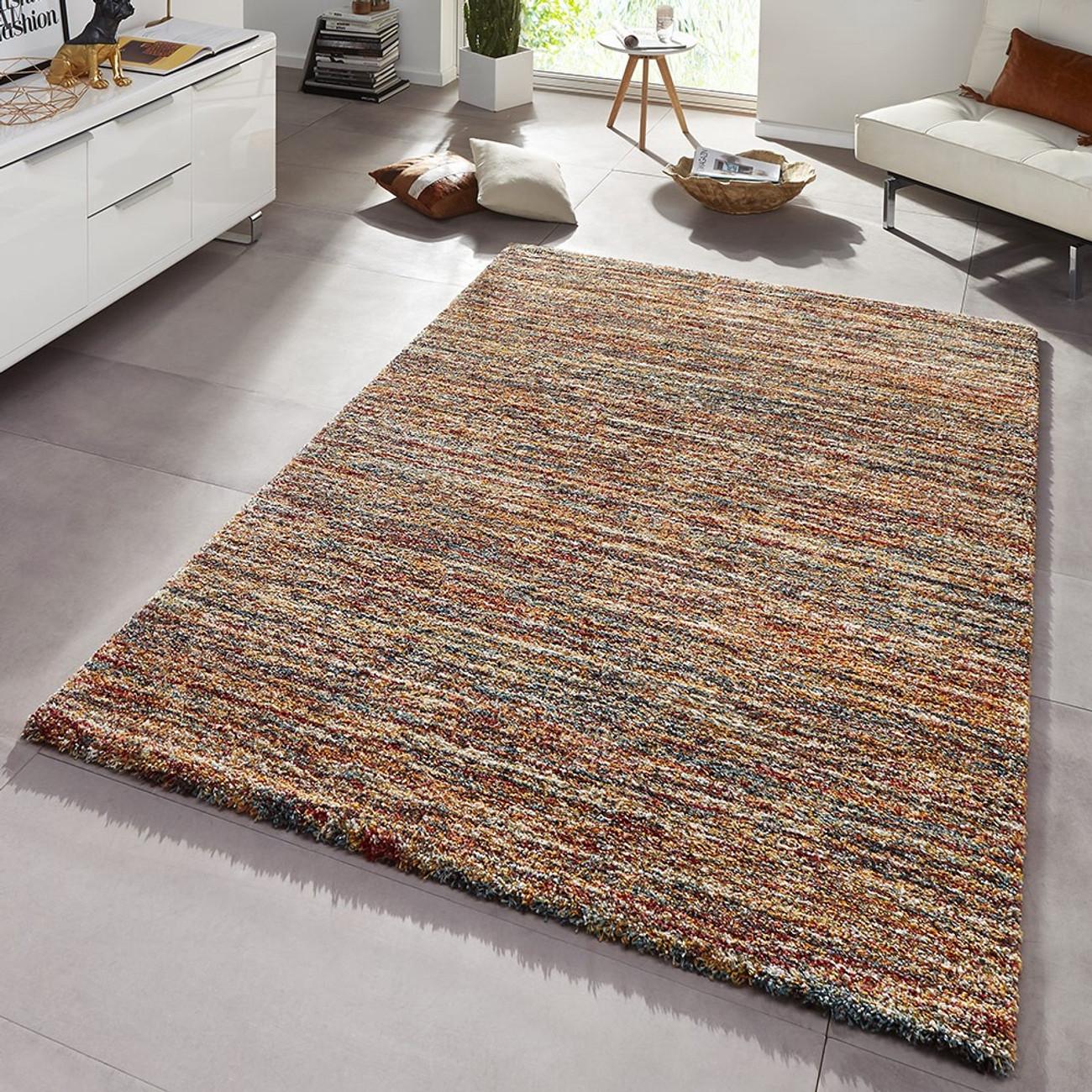 design teppich hochflor langflor gravel rot braun meliert teppiche hochflor teppiche. Black Bedroom Furniture Sets. Home Design Ideas
