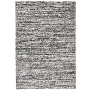Design Teppich Hochflor Langflor Gravel Dunkelgrau Meliert – Bild 3