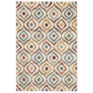 Design Teppich Hochflor Langflor New Age Creme Bunt – Bild 3