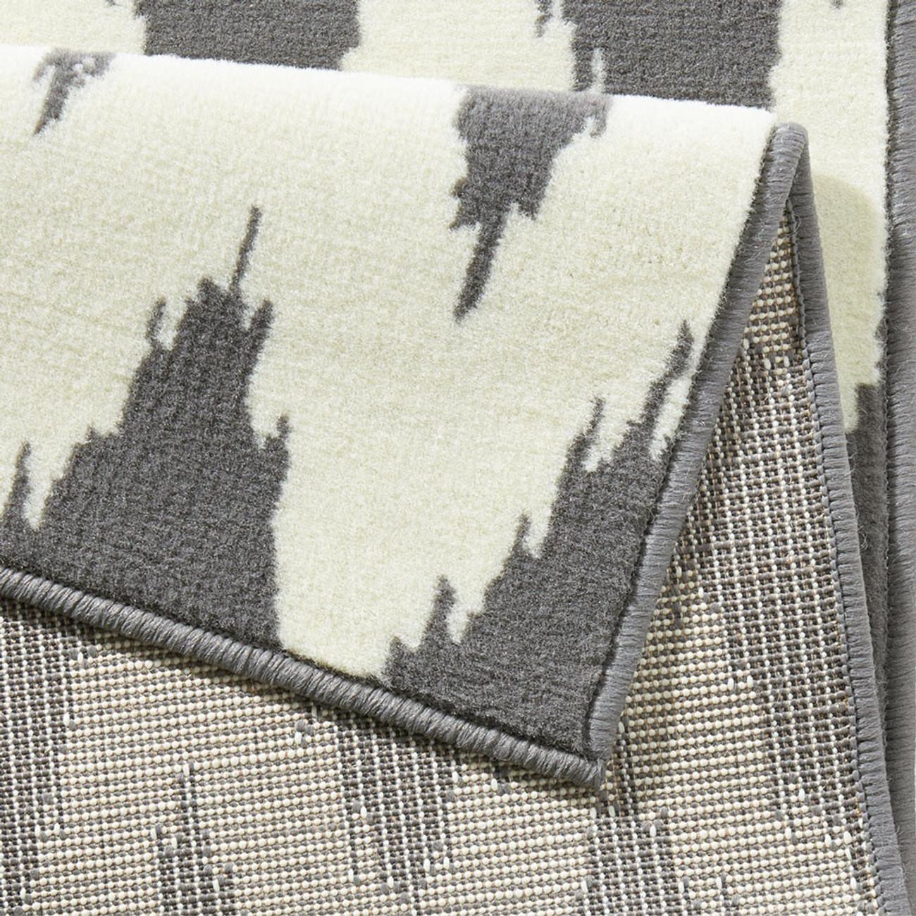 design velours teppichl ufer br cke fabric grau creme teppiche l ufer. Black Bedroom Furniture Sets. Home Design Ideas