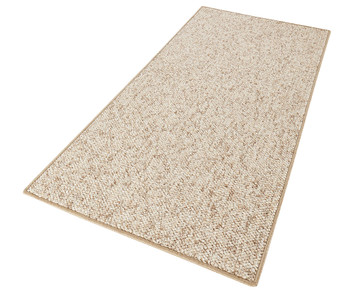 Design Teppich Wolly in Woll-Optik Beige Braun – Bild 4
