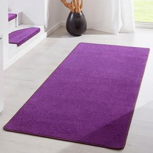 Kurzflor Uni Teppich Fancy einfarbig lila – Bild 2