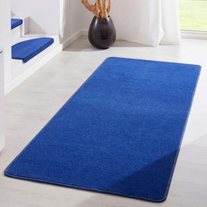 Kurzflor Uni Teppich Fancy einfarbig blau – Bild 3