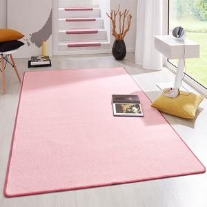 Kurzflor Uni Teppich Fancy einfarbig rosa – Bild 1