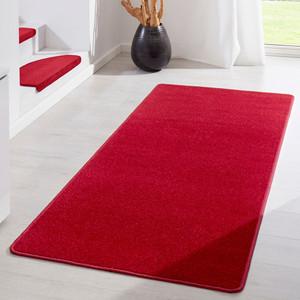 Kurzflor Uni Teppich Fancy einfarbig rot – Bild 3