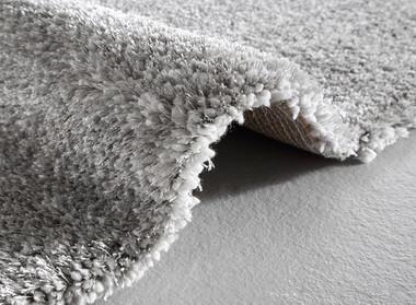 Design Hochflor Teppich Monaco Silver  Shaggy Langflor – Bild 2