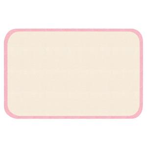 Kinderteppich Soft Konturschnitt Bordüre Jill Rosa-creme 67x120 cm – Bild 1