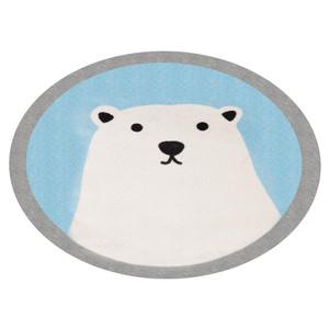 Kinderteppich Soft Konturschnitt Rund Eisbär Lennox 100 cm – Bild 2