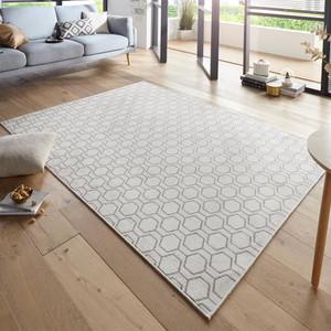 Design Teppich Schlingenteppich Novalie Creme Grau