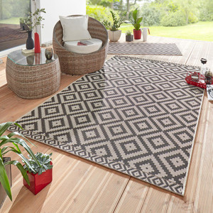 Design Outdoorteppich Summer Schwarz