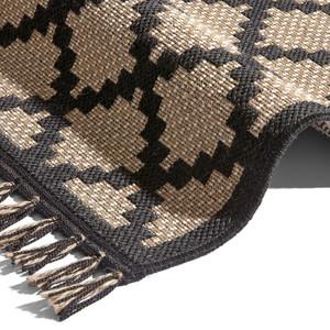 Natur Flachgewebter Sisal Look Jute Teppich Visby mit geknüpften Fransen  – Bild 2