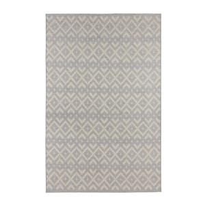 Flachgewebeteppich Alley in handgeknüpfter Makramee-Optik Grau – Bild 4