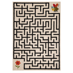 Kinderteppich Spieleteppich Labyrinth Bee & Flower 120x170 cm