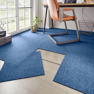 Teppichfliese meliert Easy Blau 50x50 cm 20er-Set selbstliegend