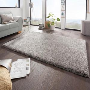 Design Hochflor Teppich  Boutique Grau Meliert