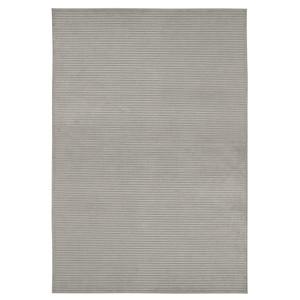 Design Viskose Teppich Hazel in Relief-Optik Grau