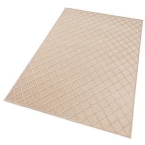 Design Viskose Teppich Danton in Relief-Optik Creme