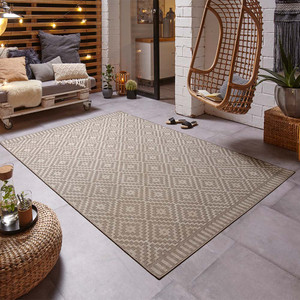 Design In- & Outdoor Teppich Breeze Taupe