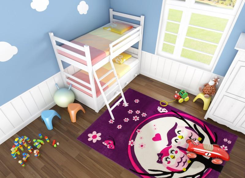 Kinderteppich eule  Designer Kinder Teppich Lifestyle 187 Eulen Lila Teppiche Design ...