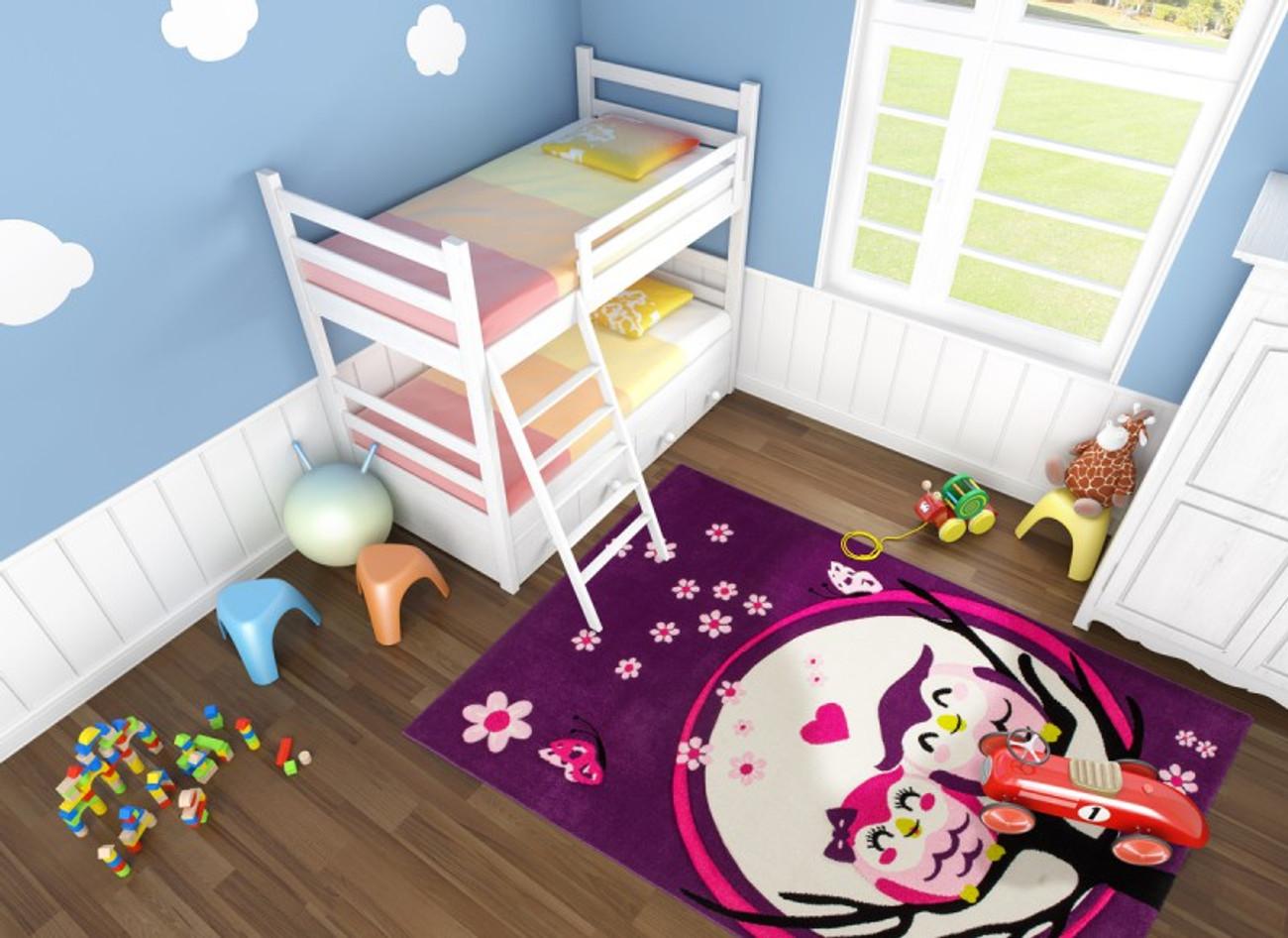Kinderteppich eule rosa  Designer Kinder Teppich Lifestyle 187 Eulen Lila Teppiche Design ...