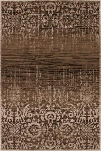 Moderner Designer Teppich USA - San Francisco Karamell mit Ornament Muster