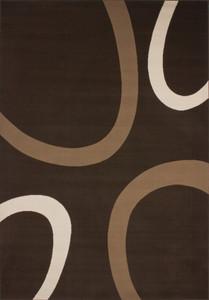 Moderner Designer Teppich USA - Dallas Elfenbein mit Kreise Muster