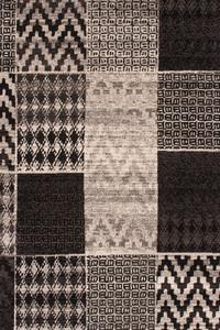 Moderner Designer Teppich USA - Atlanta Silber mit Patchwork Optik