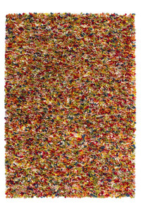 Hochflor Teppich Unique 720 Multi handgefertigt, gefilzte Wolle