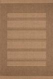 Designer Flachgewebe Teppich Schweden - Stockholm Kaffee / Mais mit Sisal Look 001