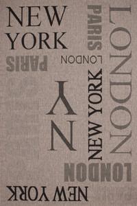 "Designer Flachgewebe ""New York"" Silber mit Sisal Look"