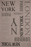 "Designer Flachgewebe ""New York"" Silber mit Sisal Look 001"