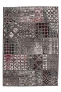Velours Design Teppich Funky 2029 Grau | Vintage Look