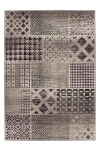 Velours Design Teppich Funky 2029 Silber | Vintage Look