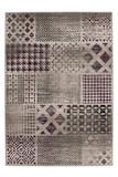 Velours Design Teppich Funky 2029 Silber | Vintage Look 001