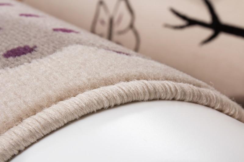 Kinderteppich eule grau  Velours Design Kinder Teppich mit Eulen Motiv Grau | 3D-Hoch-Tief ...