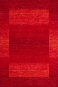 Flachflor Teppich New Zealand - Wellington Rot | 100% Wolle – Bild 1