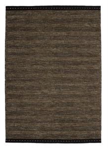 Designer Teppich Bombay 343 Braun aus Wolle Handgewebt